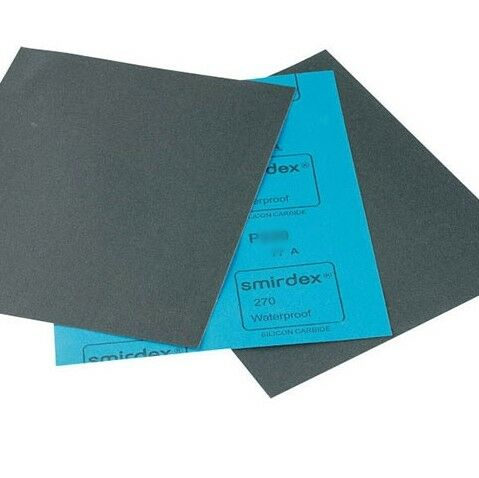 PKT50 MEDIUM 240 GRIT QUALITY WET/&DRY SANDPAPER SHEETS 280X230mm P240 WATERPROOF
