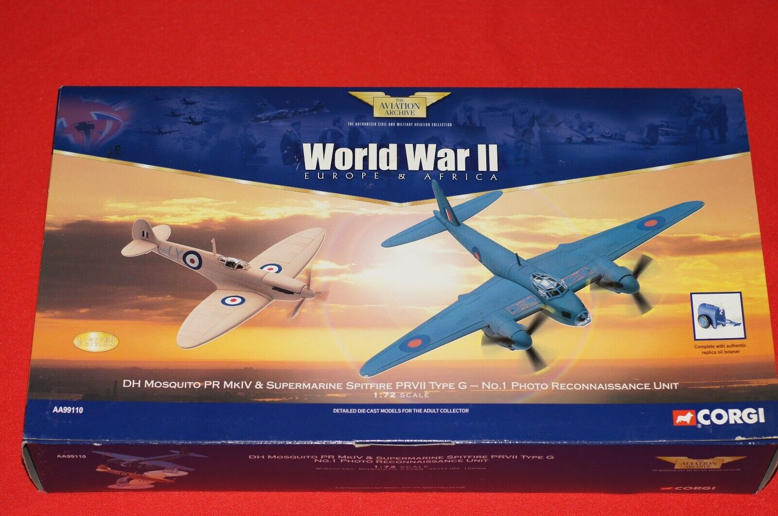 tienda en linea Corgi AA99110 súpermarine Spitfire Mosquito Mosquito Mosquito & escala 1.72 de Metal Modelos Nuevo  artículos novedosos