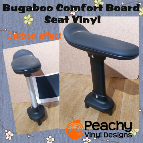 BLACK CARBON Bugaboo Comfort Wheeled Board Seat Pole Pre-Cut Vinyl
