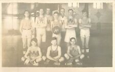 c1910 Unknown Town Basketball Team Real Photo Postcard/RPPC