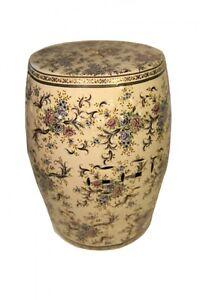 Oriental Furniture Porcelain Garden Stool With Glazed