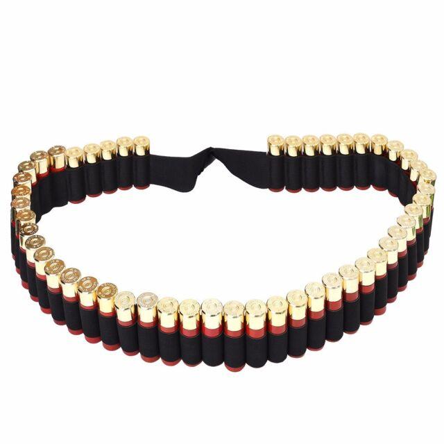 25Shell Cartridge Ammo Sling Belt 50 Round 12 20 Gauge Bandolier Shoulder Belt