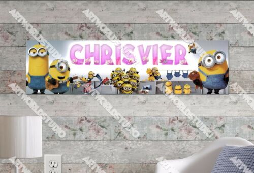 Personalized//Customized Minions #2 Name Poster Wall Art Decoration Banner