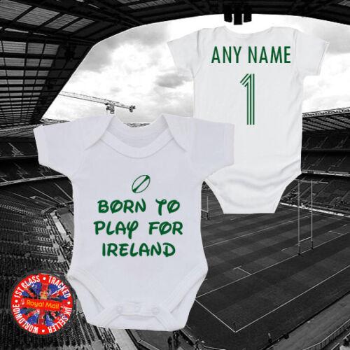 irlandés Regalo Personalizado Ireland Rugby Babygrow recién nacido