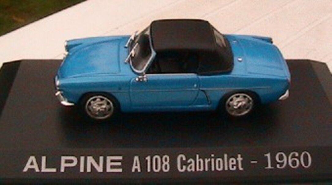RENAULT ALPINE A108 CABRIOLET 1960 NOREV 1 43 blue M6 M6 M6 COLLECTIONS + CAPOTE 855020