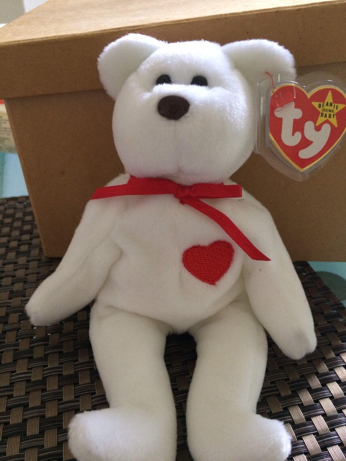 TY  Valentino Bear Mint and Rare