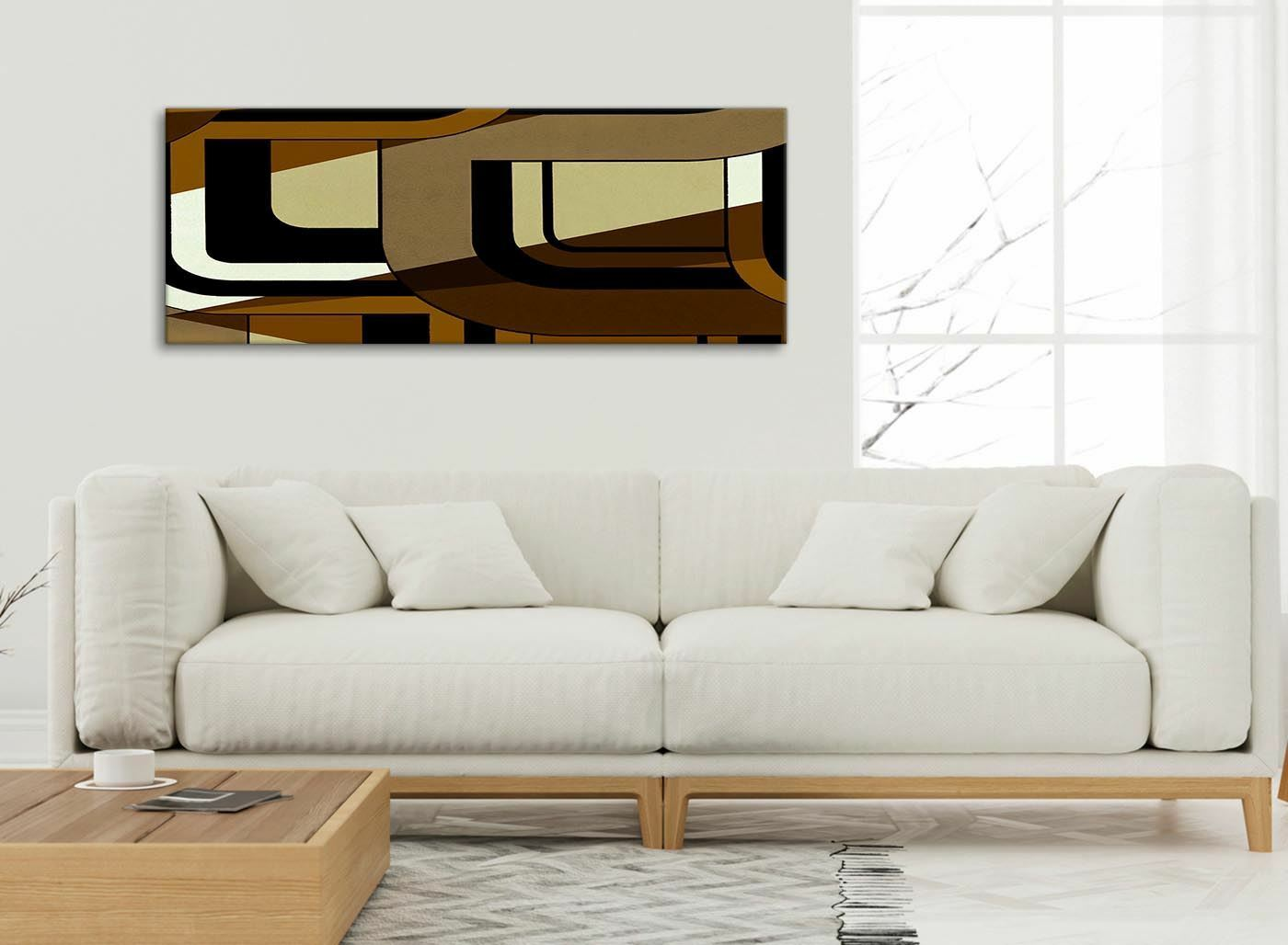 braun Cream Painting Living Room Canvas Accessories - - - Abstract 1413 - 120cm 859115
