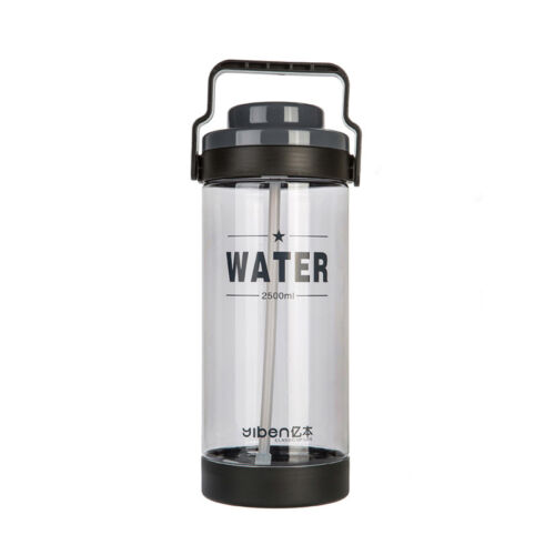 2.5//3L Large Water Drinks Bottle w// Straw Sports Cycling Travel Outdoor Bike Gym