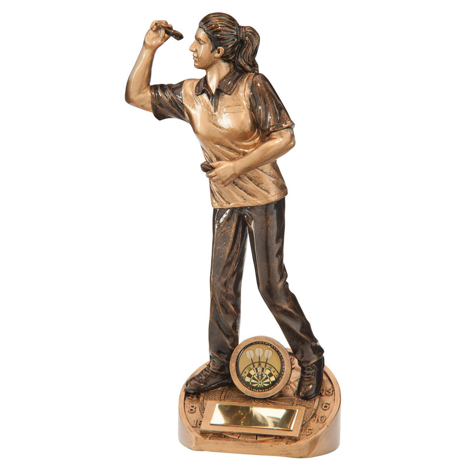 Bullseye Bullseye Bullseye femelle Fléchettes Figure trophées Awards 3 Tailles Gravure Gratuite 9a51c4