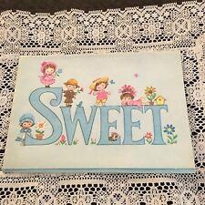 Vintage Greeting Card Get Well Sweet Glitter Kids