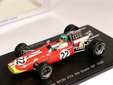 F1 Brabham BT20 #22 Silvio Moser Dutch GP 1968 - Spark 1/43 (S3505)