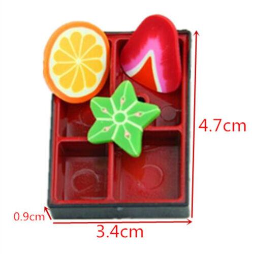 2x simulación de Plástico Comida Caja Caja De Almuerzo Bento Japonés Sushi Juguetes Infantiles