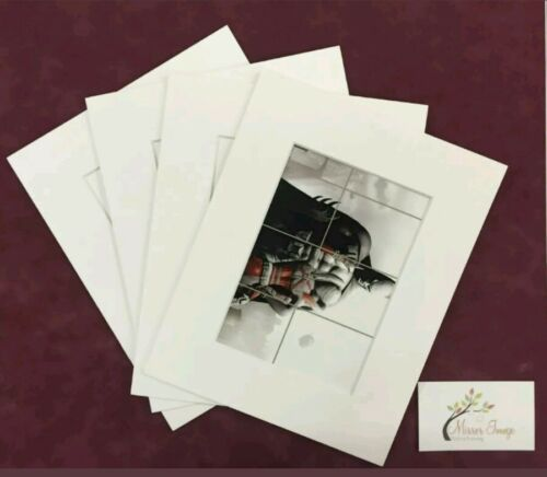 "20 x 8x10"" 6X8"" Window Black Professional Picture Mounts Photo Mount Pockets"