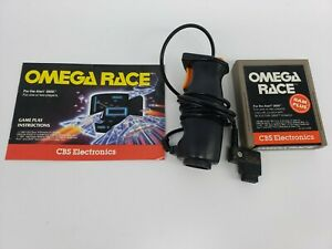 Atari-2600-Omega-Race-Game-w-Booster-Grip-and-manual-Tested-Works-RARE