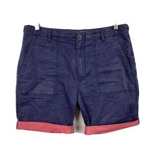 Rodd-amp-Gunn-Mens-Shorts-Size-32-Regular-Fit-Faded-Blue-Red-Trim-Chino-Shorts