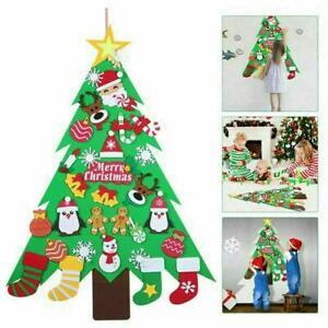 Kinder-DIY-Filz-Weihnachtsbaum-Ornamente-Weihnachten-Geschenke-Wandbehang-Dekor