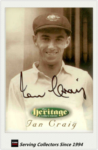 1996 Futera Cricket Heritage Collection Signature Card NO38 Ian Craig