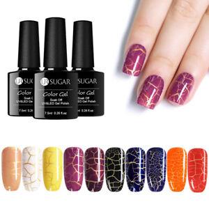 UR-SUGAR-7-5ml-Knistern-Nagel-Gellack-Soak-Off-Nail-Art-Crackle-UV-Gel-Polish