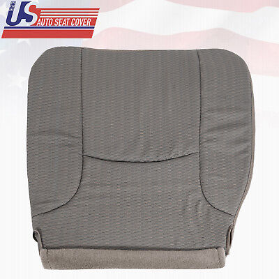 2002-2005 Dodge Driver Bottom Replacement Synthetic Leather Seat Cover Dark Gray