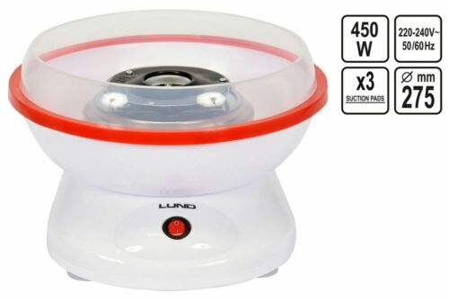Zuckerwattemaschine Zuckerwattegerät Zuckerwatte Maschine Weiß 450 W