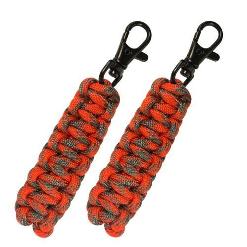 UST ParaTinder Double Duty//Life-Saving Zipper Pull Paracord Orange//Grey 2-pack