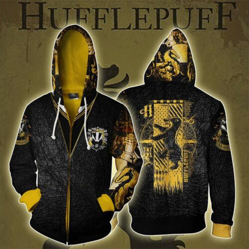 Harry Potter Golden Snitch Hoodies Kapuzen Pullover Reißverschluss Sweatshirt