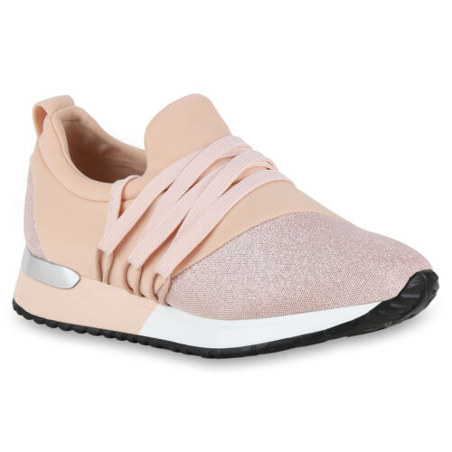 Damen Sportschuhe Glitzer Laufschuhe Lack Sneaker Turnschuhe 821417 Trendy Neu