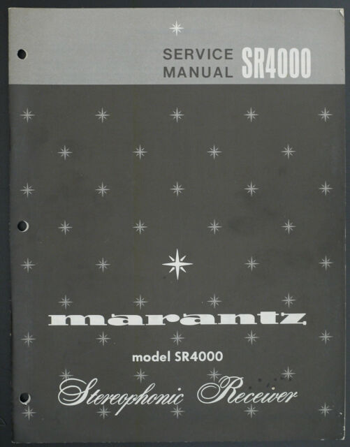 Marantz Sr4000 Original Stereo Receiver Service Manual  Diagram  Parts List