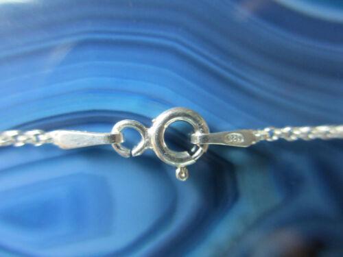 Fina ϖ eslabones cadena Sterling plata 925 45 cm cadena de plata 18 Inch