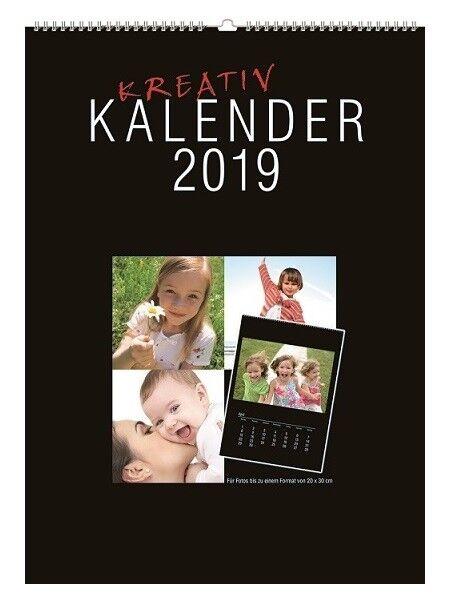 100 FOTOKALENDER  BASTELKALENDER KREATIVKALENDER 2019 DIN A4 für Fotos b. 13x18 | Ausreichende Versorgung  | Tadellos  | Haltbar