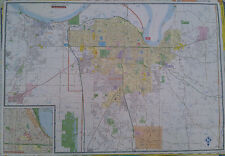 Owensboro, KY Henderson, KY Evansville, IN 27 x 39 Laminated Wall Map (G)