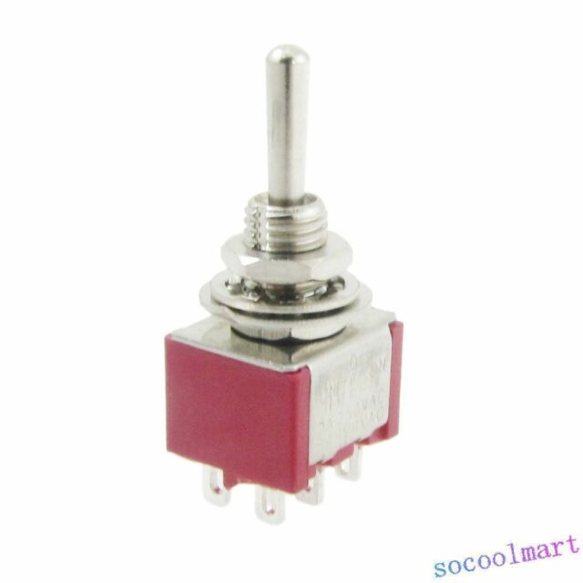 Car Truck ON-OFF-ON 3 Position SPDT Momentary Toggle Switch AC 120V 5A 5Pcs
