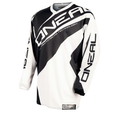 O/'Neal Element Kinder Jersey Weiß DH Mountain Bike Moto Cross Shirt Enduro MTB