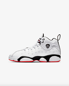 best sneakers 2fe4b ea368 Image is loading Jordan-JUMPMAN-TEAM-II-GS-Boys-Grade-School-