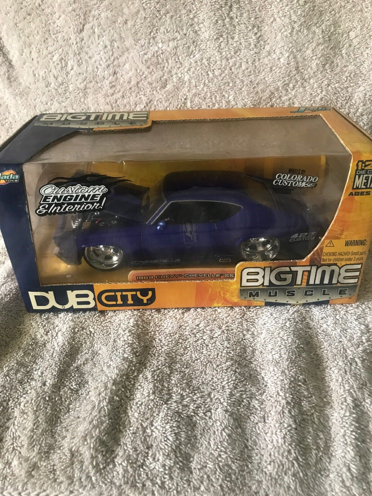 JADA 1 24 BIGTIME MUSCLE blueE 1969 CHEVY CHEVELLE SS NEW IN BOX SUPER RARE