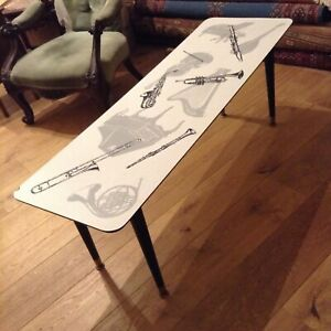 Image Is Loading Vintage Formica Top Coffee Table Musical Instruments Rare