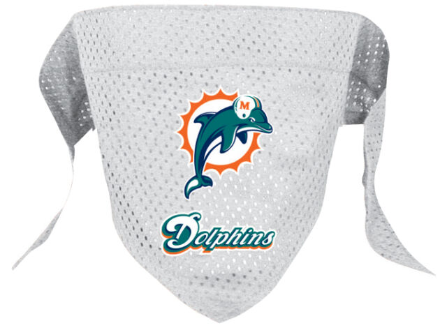 NFL Dog Pet Miami Dolphins Sports Bandana Scarf  (all sizes)