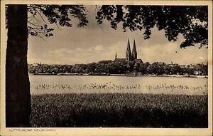 Neuruppin-Brandenburg-1920-30-Dorfansicht-mit-Kirche-Church-Eglise-ungelaufen