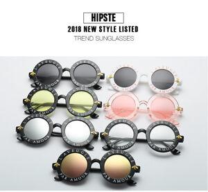 2ffdb3e2fcaac Retro Round Sunglasses English Letters Little Bee Sun Glasses Men Women  Glasses