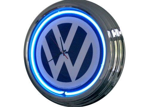 N-0227 VW Decor Retro Neon Clock Wall Clock Neon Clock Neon Clock Workshop