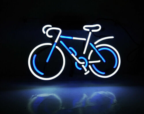 """BICYCLE Neon Sign Light Beer Bar Pub Club Wall Poster Home Room Decor Gift12/""""x7/"""""""
