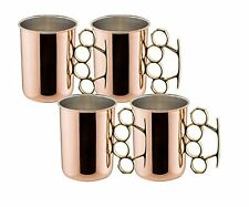Old Dutch Brass Knuckle Moscow Mule Mug, 20-Ounce, Set of 4, New, Free Shipping