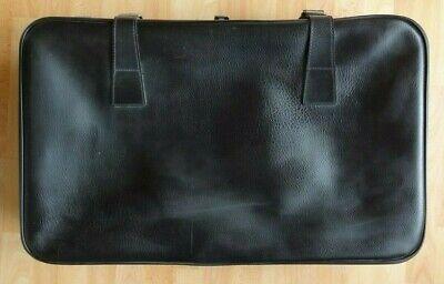 Antiker Reise Koffer Leder Schwarz 76x47x17 Cm Vintage Suitcase 50er 60er *top*