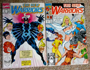 Lot-of-2-NEW-WARRIORS-1990-6-amp-10-Marvel-Comics-GVG-fast-shipping