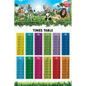 Animal-Club-Times-Tables-POSTER-61x91cm-NEW-maths-multiply-divide-subtract-add