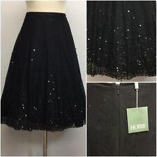 Hobbs Ladies Black Mesh Sequin 50s Vintage Full Circle Skirt Size 14 BNWT