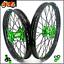 thumbnail 1 - KKE 21/18 Spoke Wheels Rims Set For Kawasaki KX250F KX450F 2006-2021 Black Spoke