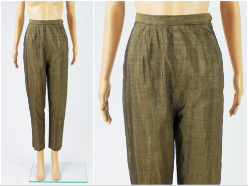 Vintage 1950s/50s High Waisted Iridescent Bronze R