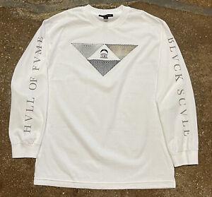 Black Scale X Hall of Fame Longsleeve Graphic Shirt White Sz Large