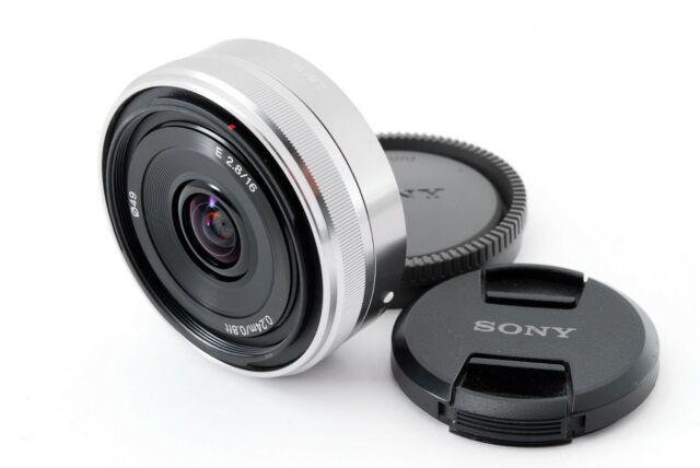 Sony sel16f28 Weitwinkel 16mm f/2.8 Pancake Objektiv für E Mount [Excellent + +] Japan
